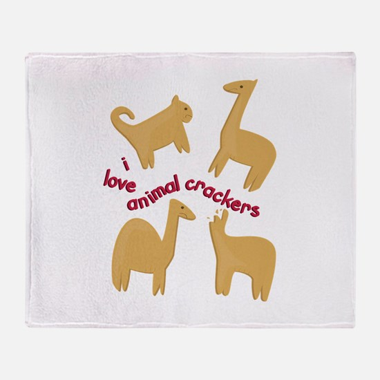 Love Animal Crackers Throw Blanket