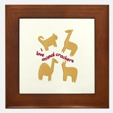 Love Animal Crackers Framed Tile