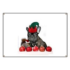 Christmas French Bulldog Banner