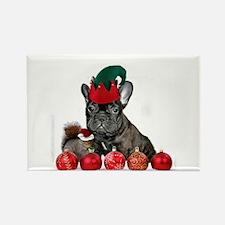Christmas French Bulldog Magnets