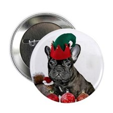 """Christmas French Bulldog 2.25"""" Button (10 pack)"""