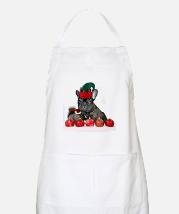 Christmas French Bulldog Apron