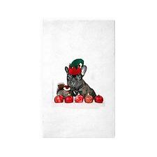 Christmas French Bulldog 3'x5' Area Rug