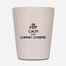 Keep calm I'm a Chimney Sweeper Shot Glass
