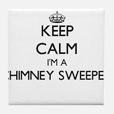 Keep calm I'm a Chimney Sweeper Tile Coaster