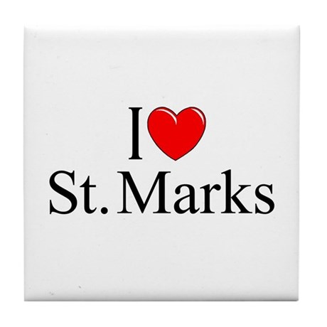 """I Love St. Marks"" Tile Coaster"