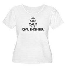 Keep calm I'm a Civil Engineer Plus Size T-Shirt