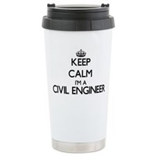Keep calm I'm a Civil E Travel Coffee Mug