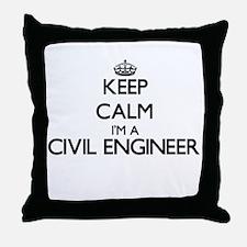 Keep calm I'm a Civil Engineer Throw Pillow