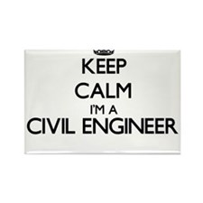 Keep calm I'm a Civil Engineer Magnets