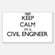 Keep calm I'm a Civil Engineer Decal