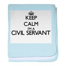 Keep calm I'm a Civil Servant baby blanket
