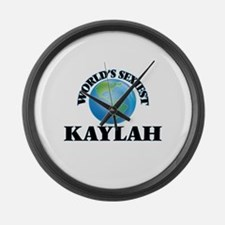 World's Sexiest Kaylah Large Wall Clock