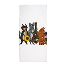 Jazz Cats Beach Towel