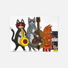 Jazz Cats 5'x7'area Rug