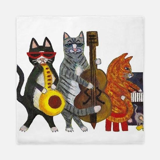 Jazz Cats Queen Duvet