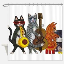 Jazz Cats Shower Curtain