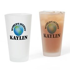 World's Sexiest Kaylen Drinking Glass