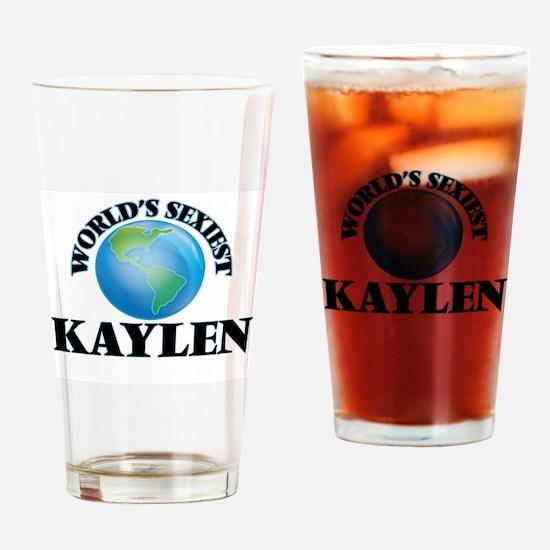 World's Sexiest Kaylen Drinking Glass