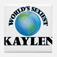 World's Sexiest Kaylen Tile Coaster