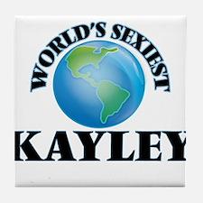 World's Sexiest Kayley Tile Coaster