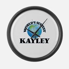 World's Sexiest Kayley Large Wall Clock