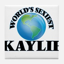 World's Sexiest Kaylie Tile Coaster