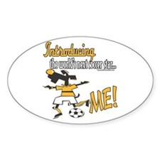 Future Soccer Player Oval Decal
