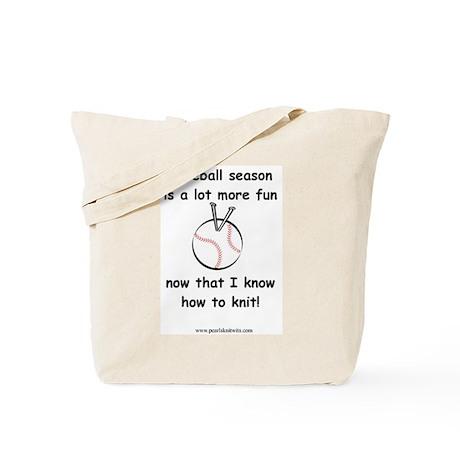 Baseball Season Tote Bag