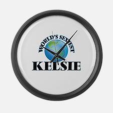 World's Sexiest Kelsie Large Wall Clock