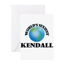 World's Sexiest Kendall Greeting Cards