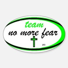 Team No More Fear Oval Decal