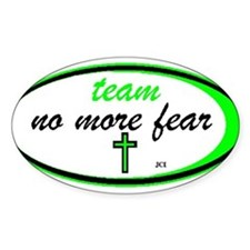 Team No More Fear Oval Stickers