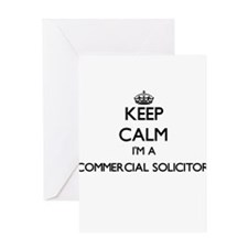 Keep calm I'm a Commercial Solicito Greeting Cards