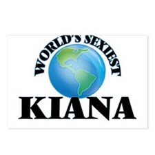 World's Sexiest Kiana Postcards (Package of 8)