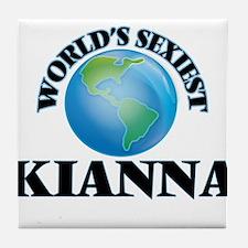World's Sexiest Kianna Tile Coaster