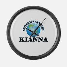 World's Sexiest Kianna Large Wall Clock