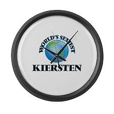 World's Sexiest Kiersten Large Wall Clock