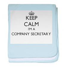 Keep calm I'm a Company Secretary baby blanket
