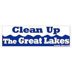 Clean Up Great Lakes Bumper Bumper Sticker