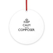 Keep calm I'm a Composer Ornament (Round)