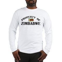 Property Of Zimbabwe Long Sleeve T-Shirt