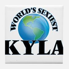 World's Sexiest Kyla Tile Coaster