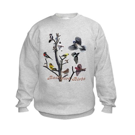 Backyard Birds Kids Sweatshirt