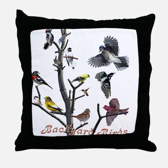 Backyard Birds Throw Pillow