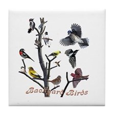 Backyard Birds Tile Coaster