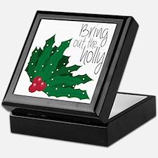 Bring Out The Holly Keepsake Box