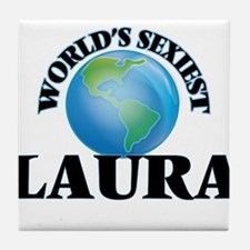 World's Sexiest Laura Tile Coaster