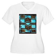 Aqua & Umber Plus Size T-Shirt