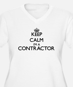 Keep calm I'm a Contractor Plus Size T-Shirt